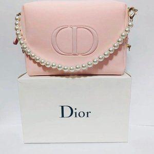 Dior Logo Makeup Pouch Handle Bag